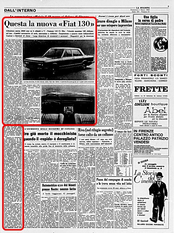La Stampa, 2 Marzo 1969