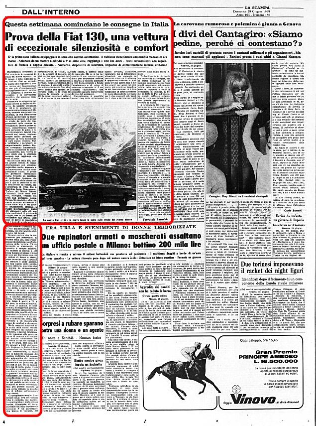 La Stampa, 29 Giugno 1969