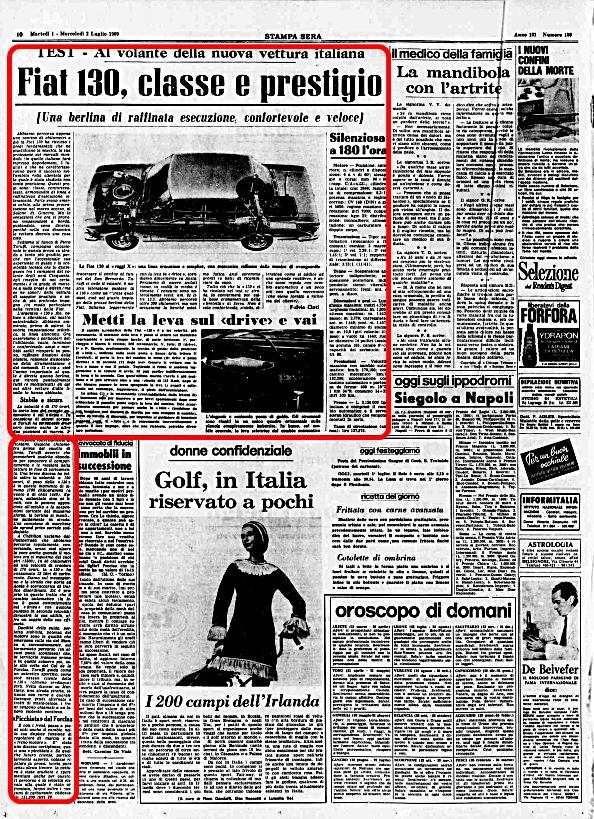 La Stampa Sera, 1 Luglio 1969