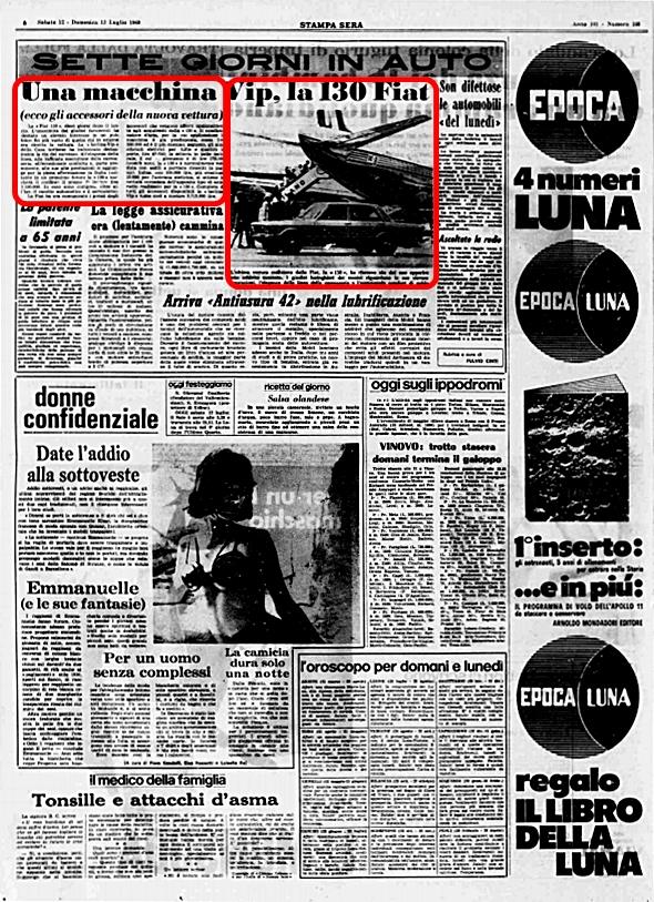 La Stampa Sera, 12 Luglio 1969