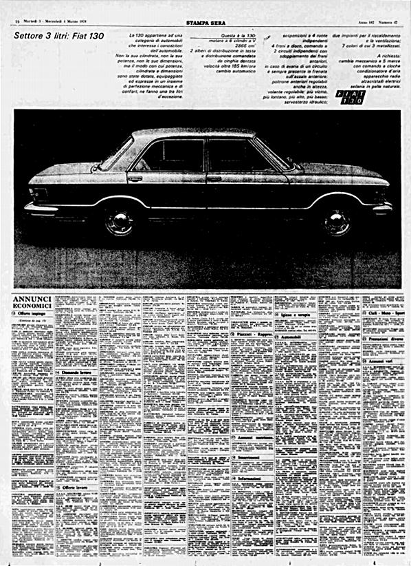 La Stampa Sera, 3 Marzo 1970