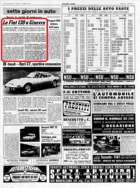 La Stampa, 26 Febbraio 1969