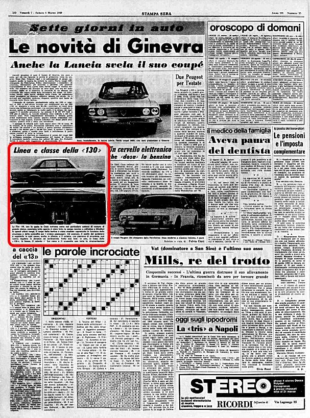 La Stampa, 7 Marzo 1969