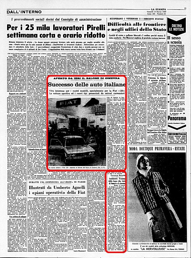 La Stampa, 14 Marzo 1969