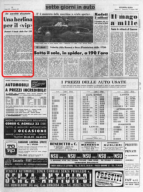 La Stampa, 28 Giugno 1969